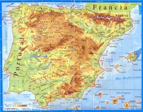 Mapa De Espana Fisico Completo Tus Apuntes Para Bachillerato